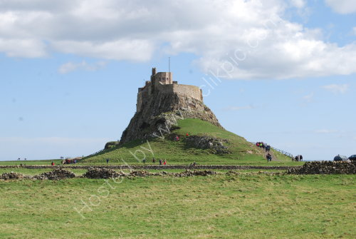 Lindisfarne Castle on the rock ....