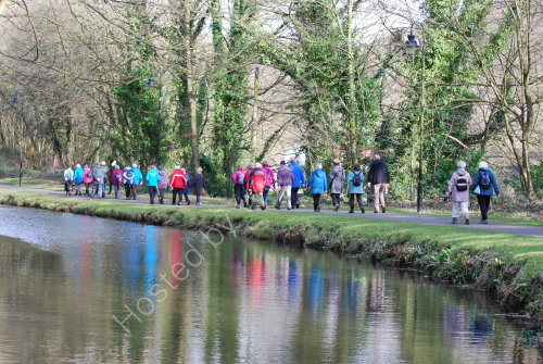 Walkers on the towpath .....