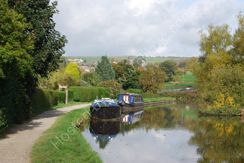 Moored on the canal at Micklethwaite