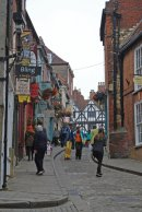Narrow shopping street in Lincoln
