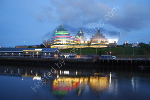 The Sage - reflected on the Tyne