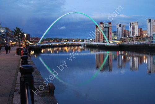 The Millenium Bridge at Blue Hour