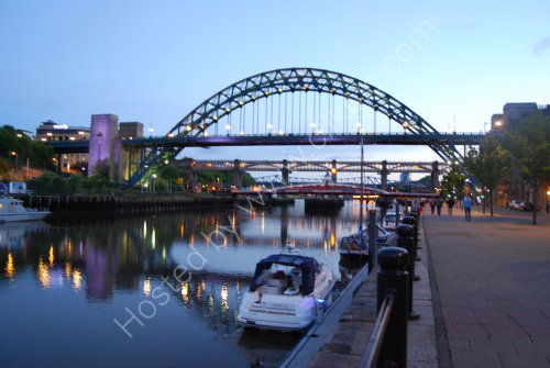 Evening reflection on the Tyne