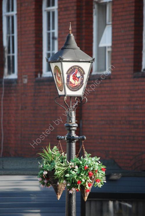 Old street lamp/pub sign