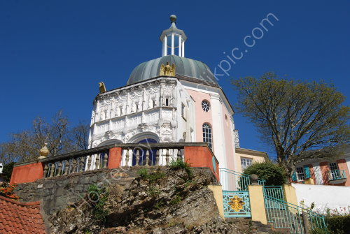 Looking up at Portmeirion