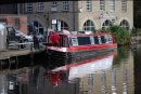 Barge reflection at Hebden Bridge