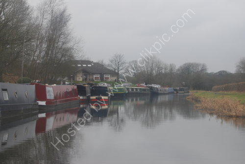Winter reflections at Riley Green Marina
