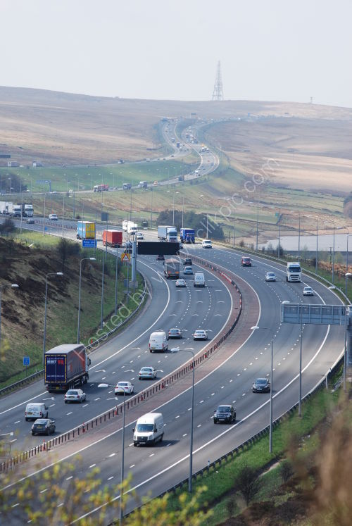 The M62 looking Westbound