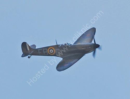 A Spitfire flypast at Slaithwaite