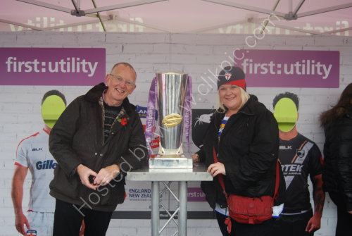 With the Super League trophy