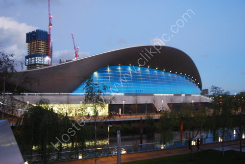 The 2012 Olympic Aquatics Centre