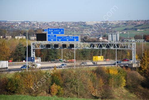 Gantry/Signage on the M62