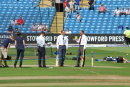 Headingley Test Match 2014 - Sky team in the middle