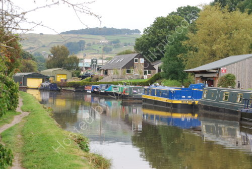 Canal boatyard outside Skipton