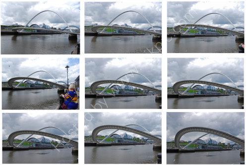 The Millenium Bridge opening (collage)