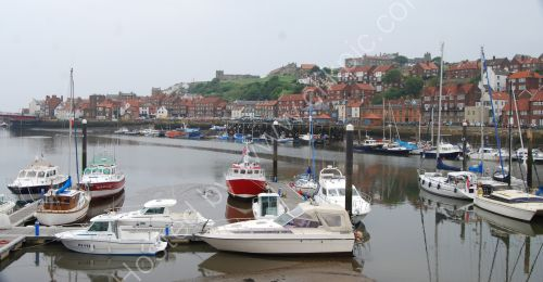 Harbour reflections at Whitby