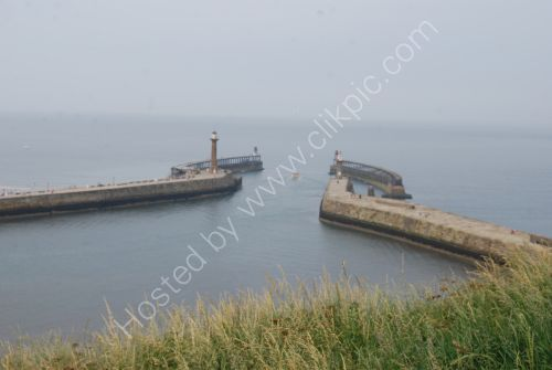 Harbour entrance and breakwater