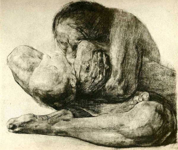 Woman With Dead Child (1903)