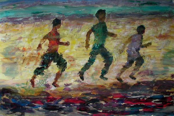 Running to their death, 2015 - by Gabriella Cleuren (Belgium)