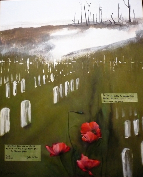In Flanders Fields (World War One) - by Alida Lyssens (Belgium)