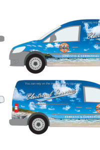 Electrical Services - Van Wrap Graphics