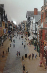 Busy Street in Chester