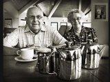 Mr and Mrs Kay at Trago Tearooms