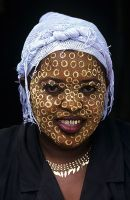 Malagasy Woman with Face Mask