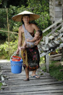 Iban Mother & Child