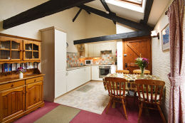 A farm holiday cottage kitchen in Cornwall
