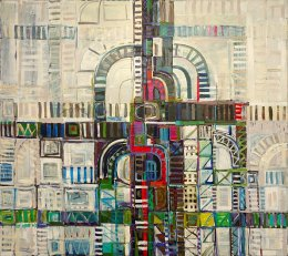 CHRISTINE WEBB Rome Traffic, 121x136 cm e