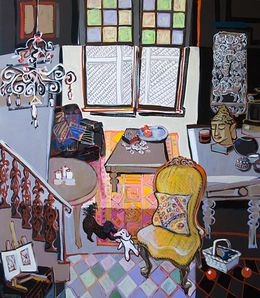 SOLD Coco Loves Baba, Porter Wells House, 2013, 138x122cm, Acrylic