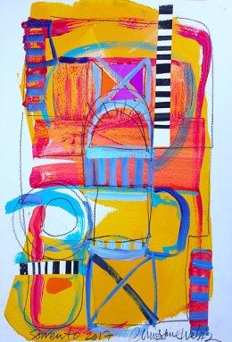 Christine Webb Sorrento Beach Number 1 Mixed Media on Paper 42x30cm e