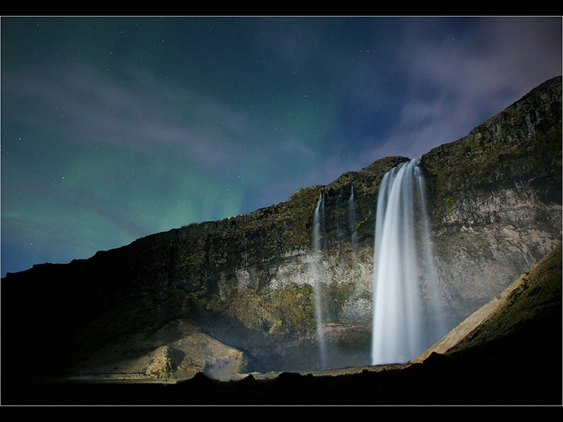 Com Seljalandsfoss by Night by Robert Falconer