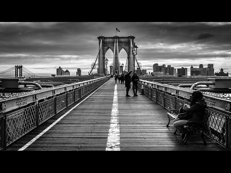 Brooklyn Bridge Walkway by Martin Duffy Top