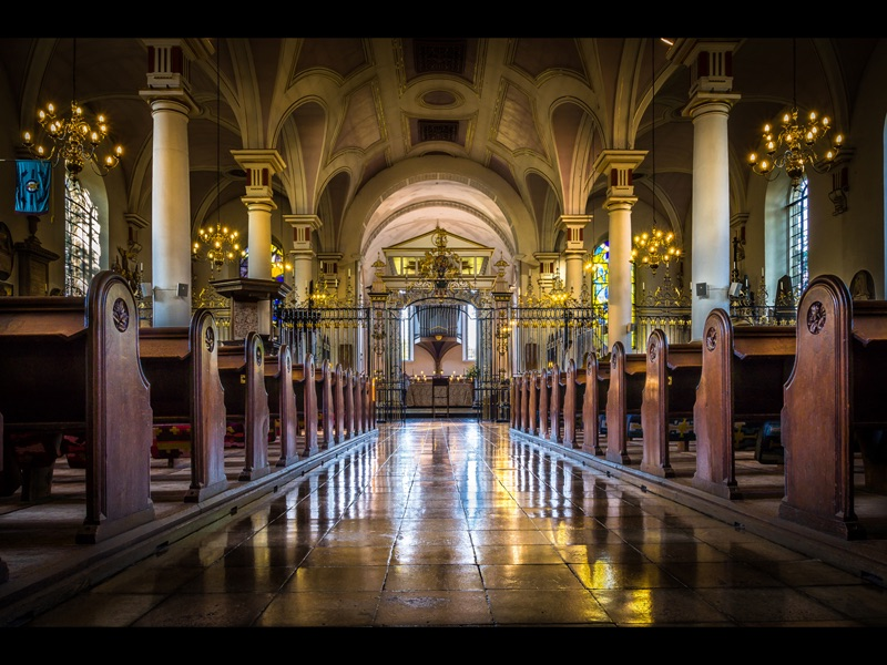Com Aisle Reflections (Derby Cathedral) by Martin Duffy