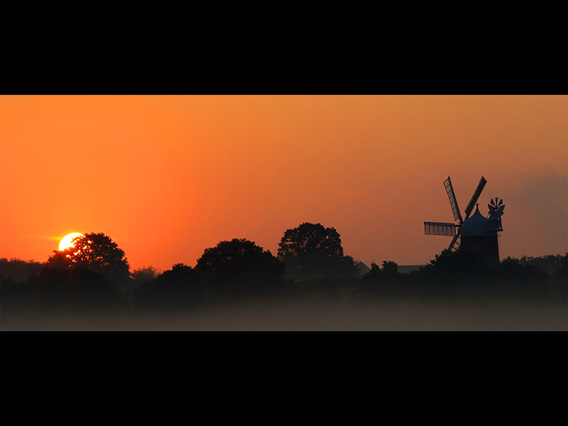 Com Heage WIndmill at Sunrise by Steve Parker