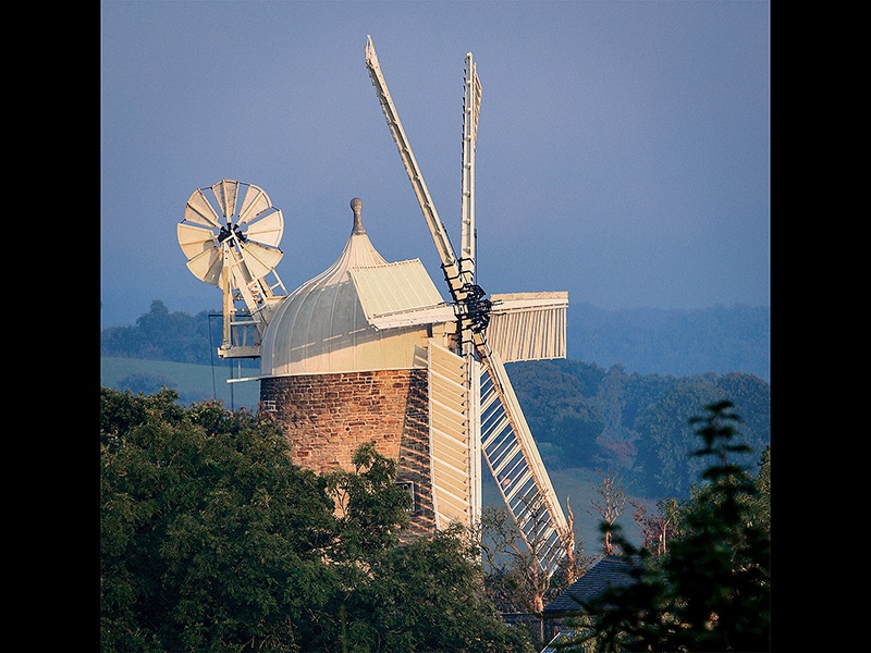 Com Morning Glow on Heage Windmill by Steve Parker