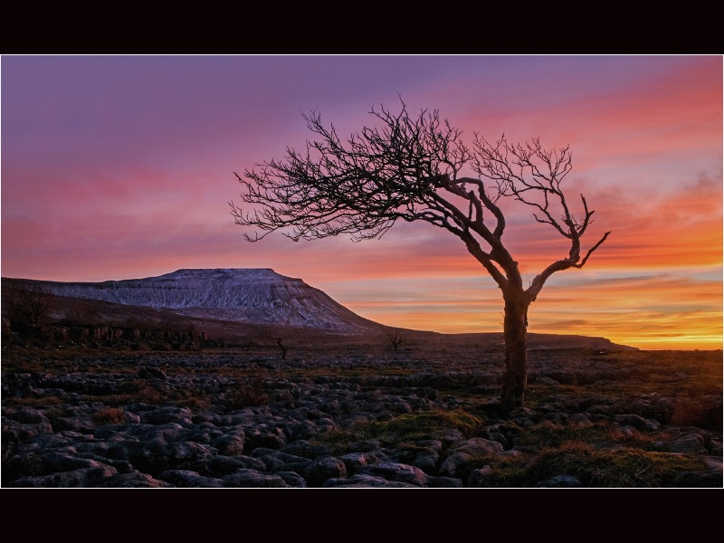 HC Ingleborough Sunset by Robert Falconer