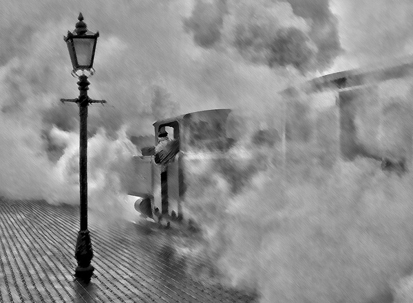 Rain, steam and very little speed by Shiela Rayson
