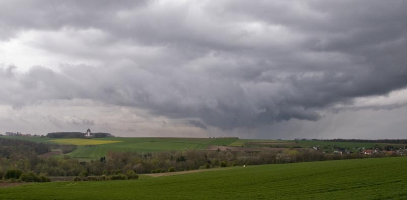 Storm clouds, Thiepval, Northern France