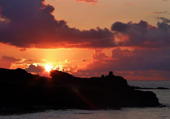Sunset over Portmeor