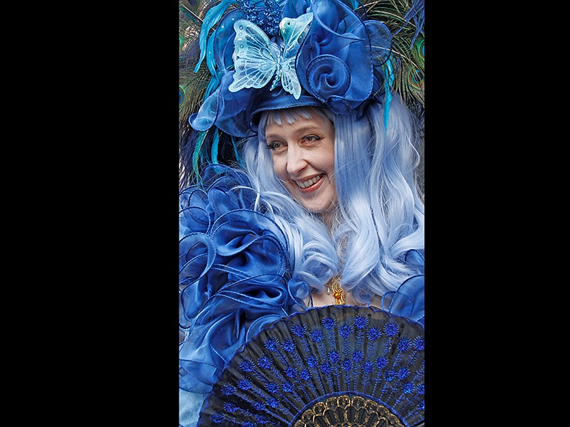 Top Lady in Blue by Sue Wilson
