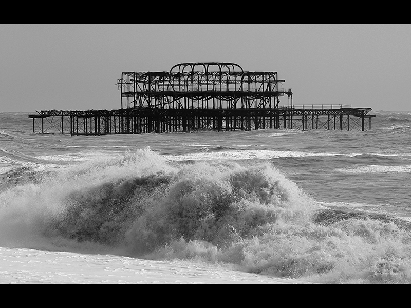 Top Storm at old Brighton Pier by Steve Parker