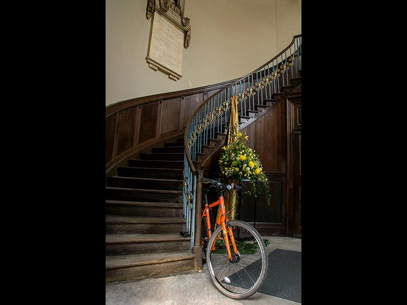 Com Orange Bike by Graham Martin