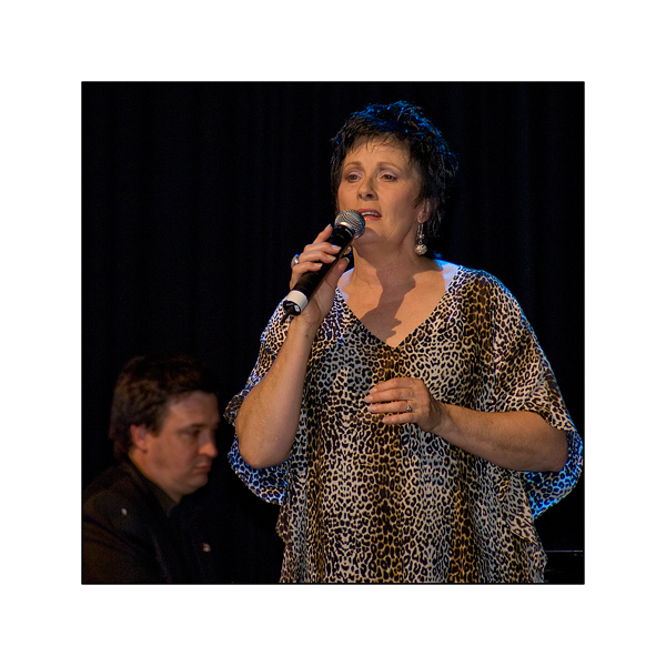 Former Queen of Pop Deborah Byrne performs in the Ipswich Civic Hall