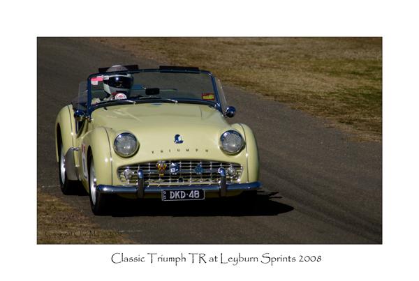 Classic Triumph TR Races at the Leyburn Sprints