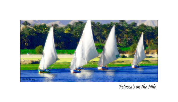 Felucca's on the Nile