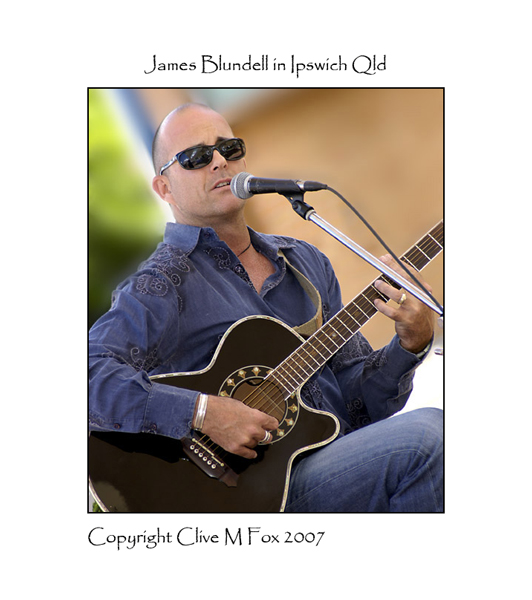 James Blundell Performs in d'Arcy Doyle Place Ipswich