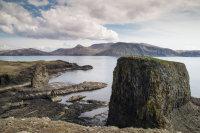 Dun Beag and Dun Mor stacks, isle of Canna